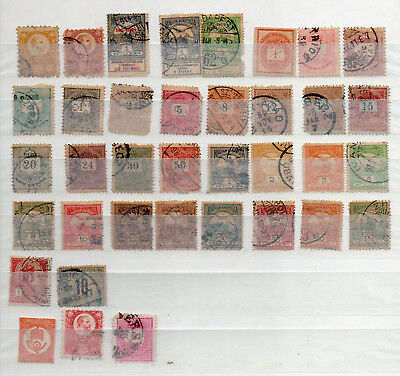 HUNGARY 37 DIFFERENT EARLY USED / MH STAMPS from OLD ALBUM