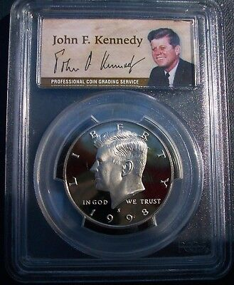 1998-S  Kennedy Half Dollar Proof PCGS PR70DCAM Deep Cameo
