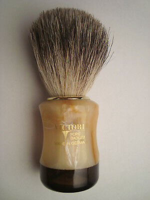 VICTORIA Pure Badger vintage shaving brush made in Germany NOS