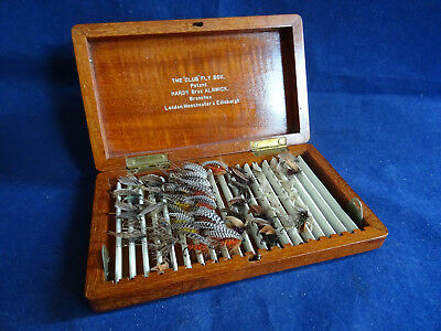 "An X-Rare Vintage Hardy The ""club"" Fly Box (Small Size) With Collection Of Flies"