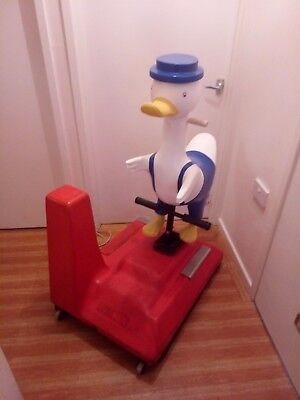 coin operated duck kids ride arcade machine