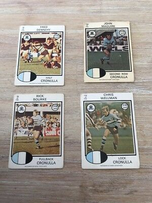 1975 Scanlens Rugby League Cards