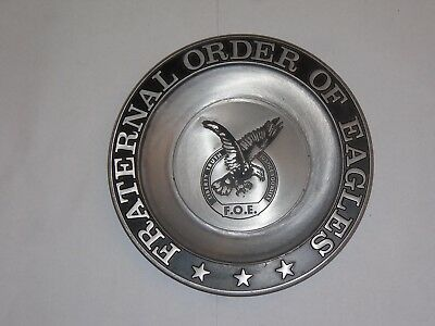 Fraternal Order of Eagles Pewter Dish/Ashtray