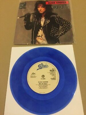 Alice Cooper / Bed Of Nails / 7 Inch Blue Vinyl / Poison / Def Leppard / Rare