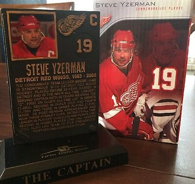 Steve Yzerman Collectible Commemorative Plaque Red Wings Limited Rare!