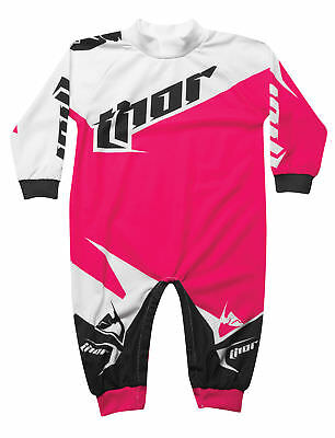 Thor Motocross Tilt One Piece Pajamas S6 Infant Magenta 0-6 Months