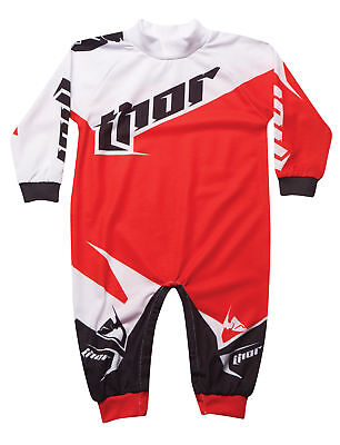 Thor Motocross Tilt One Piece Pajamas S6 Infant Red 6-12 Months