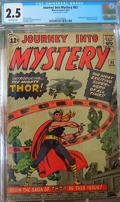 Journey into Mystery #83 (Aug 1962, Marvel) Origin and 1st appearance of Thor.