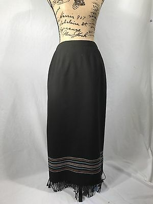 Vintage Full-Length Delicia Skirt with Fringe - Very Retro - Women's Small