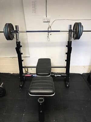 Marcy pro by impex bench rack plus 80kg Weight.