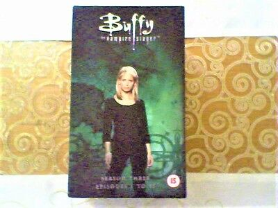 Buffy The Vampire Slayer Season 3 Episodes 1-11 Ltd Edition VHS Tapes