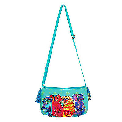 Laurel Burch Pups Dog Crossbody Bag Handbag Purse, 9.5 X 6 X .5 Inches