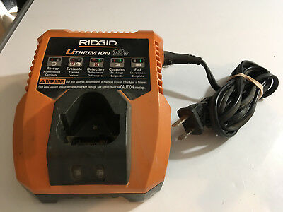 GENUINE RIDGID R86049 Lithium Ion12V Volt Battery Charger for AC82048 AC82058