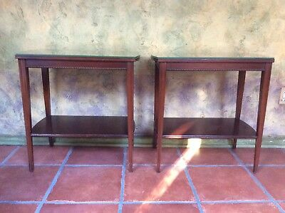 Pair of Vintage Imperial Furniture of Grand Rapids Mahogany End Side Tables 3165