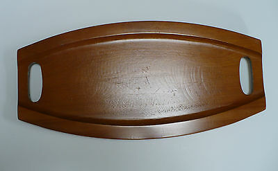 "Baribocraft Canada Wooden Tray 17"" x 8"" Rubber Feet With Handle Cut Outs"