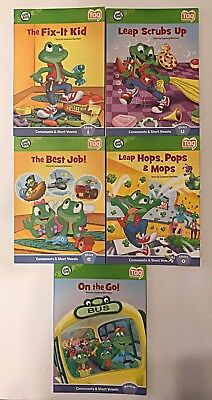 Lot of 5 Leap Frog Tag Reader Interactive Paperback Books Reading, Mixed Lot