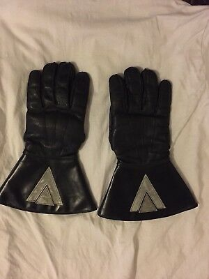 Vintage Leather Motorcycle Gauntlets Size 8.5
