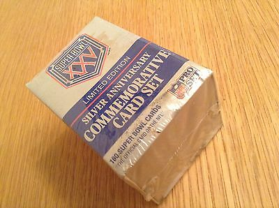 Sealed Complete Set Super Bowl XXV NFL American Football Trading Cards (1-160)