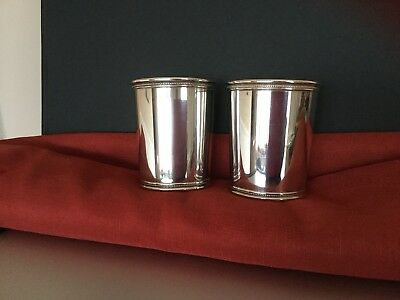 PAIR OF LBJ PRESIDENTIAL MINT JULEP CUPS (STERLING) by MARK J SCEARCE