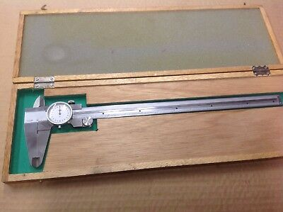 """Vintage Kanon 12"""" Dial Caliper in Wood Box"""