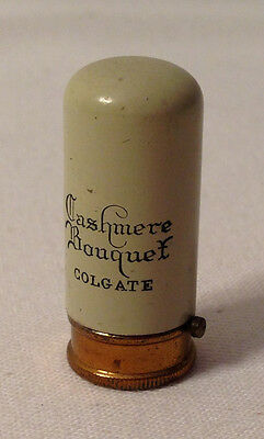 Cashmere Bouquet Colgate SAMPLE sized painted metal lipstick in etched tube