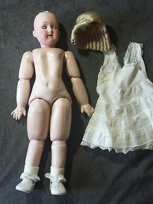 "28"" Antique Bisque Head Composition  Doll"