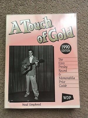 Elvis book A Touch of Gold rare 1990 record and memorabilia price guide 330 pgs