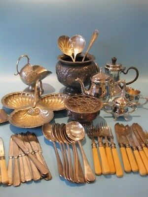 Nice Job Lot of Antique Silver Plated Items Including Silver Plated Cutlery