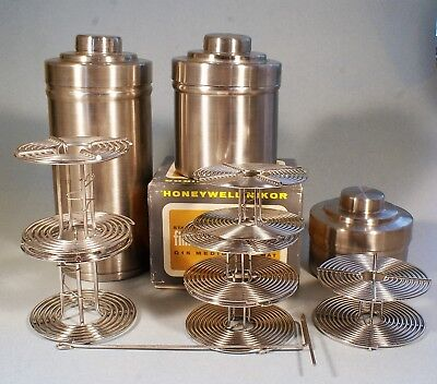 Film Developing Tanks- Stainless Steel- 3 sizes with Reels for 35mm/120
