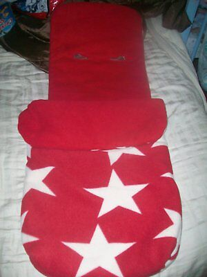 John Lewis Red Star Buggy Foot Muff Cosy Toes