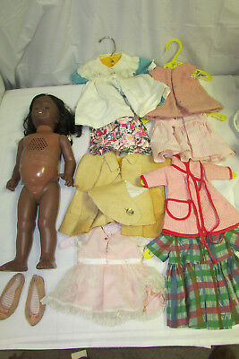 Vintage 1960s Black African American Chatty Cathy Baby Mattel Doll AS-IS LOOK!!