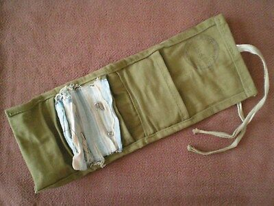 """WW2 1941 Canadian Army Issue """"Housewife"""" Soldiers Sewing Effects Pouch by Holden"""