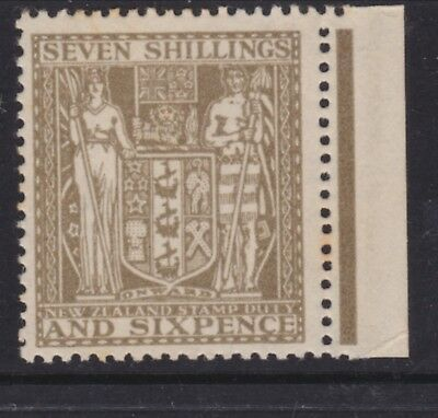 New Zealand 1931 7/6 Postal Fiscal Single watermark Hinged mint  SG F152