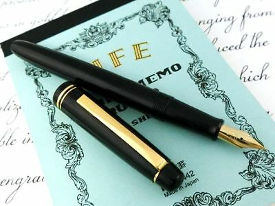 NEW!! PILOT Gold-Fine-Nib x Black Body Fountain Pen Made in JAPAN