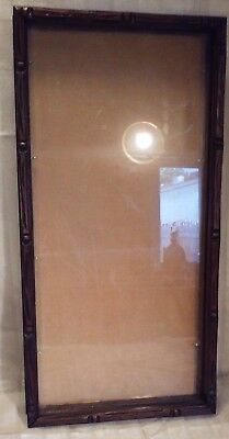 Antique victorian WALNUT shadowbox 12 3/4 x 25 glass 11 1/2 x 24
