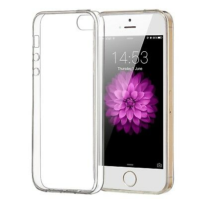 iPhone 5/5S/SE Case ELZO Transparent Crystal Clear Soft TPU Back Protector Co...