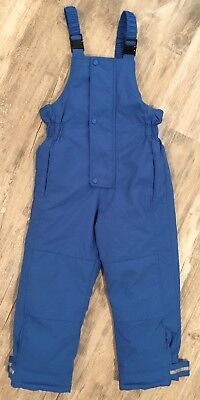 Hanna Andersson 130  8-10 Snow Pants Bib Insulated Overalls Adjustable Blue