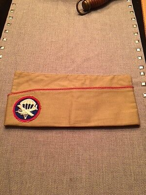 Named WWII US Army Airborne Paraglider Garrison Cap/ Insignia Patch