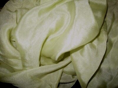 Luxurious Antique Silk  Remnant Light Celery Green French German Doll Clothes