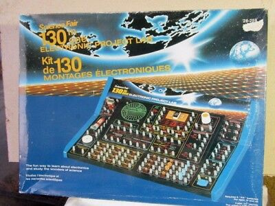Radio Shack  Science Fair  130 in One Electronic Project Lab  #28-259 Frm CANADA