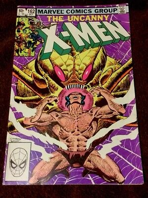 "#162 The Uncanny X-Men ""The Brood, Direct"" Marvel Comics (7.5 VF- Cond)"