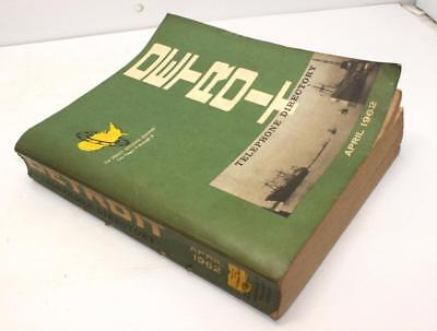 1962 Detroit Telephone Directory Michigan Bell Phone Book Geneology Nice Cond!!!