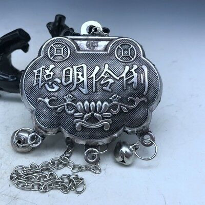 China's Tibet silver handmade carving a symbol of happiness Intelligent lock