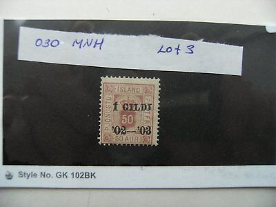 Stamps. Iceland. MNH. O30. Lot 3.