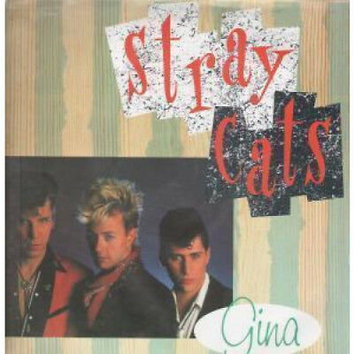 "STRAY CATS Gina 12"" VINYL UK Emi 1989 3 Track Limited Edition Poster Sleeve"