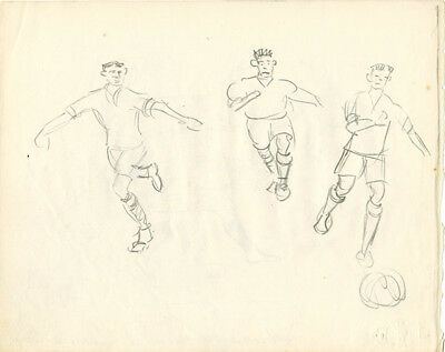 Page from the album of RUSSIAN ARTIST SOCCER PLAYERS AND and MILITARY MEN