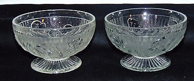 "2 Jeannette IRIS CRYSTAL *2 1/2"" FOOTED LOW SHERBETS*"