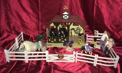 Horse Farm Lot - 60+ Pieces! Barn BREYER 4 Horses 2 Dolls - HOLIDAY PRICE DROP!