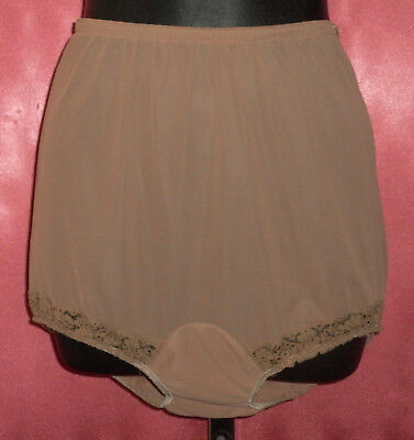 ~ BEST Vintage 50's KAYSER Chocolate Cocoa Panties w/ Double Nylon Gusset 6 ~