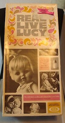 Vintage 1966 Real Live Lucy Doll by Ideal! Complete W/ Box, Bottle & Spoon! NICE